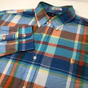 Ralph Lauren Indian Madras Long Sleeve Shirt